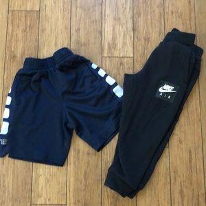 Nike shorts and Sweatpants size 3T